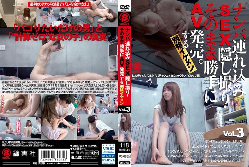 SNTL-003 ナンパ連れ込みSEX隠し撮り・そのまま勝手にAV発売。する別格イケメン Vol.3